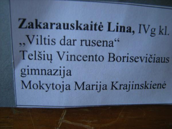 Cartel Lina Zakarauskaité