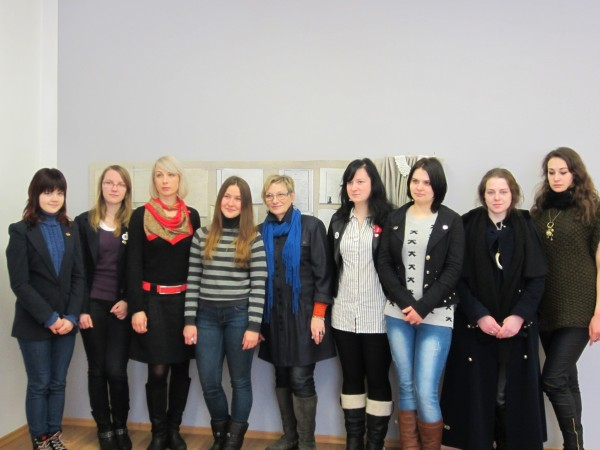 Students of V. Borisevicius with class of clothing and knitwear design of Telsiai Academy of Art