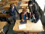 Kornelija Ulskyte in her class of Vincento Boriseviciaus in 2012, with Gabriele, Bernadetta and me.